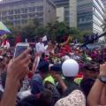 Jokowi dan JK di atas delman di kawasan Bundaran HI | Kornelius Nehe