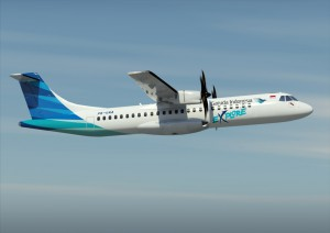 Pesawat ATR Garuda Indonesia | wongleces.blogspot.com