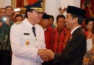 Preside Ahok dan Gubernur Jokowi di Istana Negara usai pelantikan | setkab.go.id