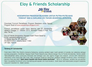 Flyer EF Scholarship