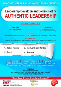 Flyer Seminar LEAD Center Indonesia 12 April 2015