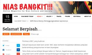 Tampilan laman NBC tentang informasi berhenti beroperasi | EN