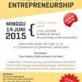 "Flyer Seminar ""The Spirit of Entrepreneurship"" | LC Indonesia"