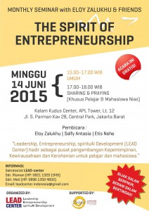 "Flyer Seminar ""The Spirit of Entrepreneurship"" 