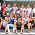 Bupati Nias Selatan Idealisman Dachi, Kepala Desa Bawomataluo Ariston  Manao dan para pelompat | Ariston Manao