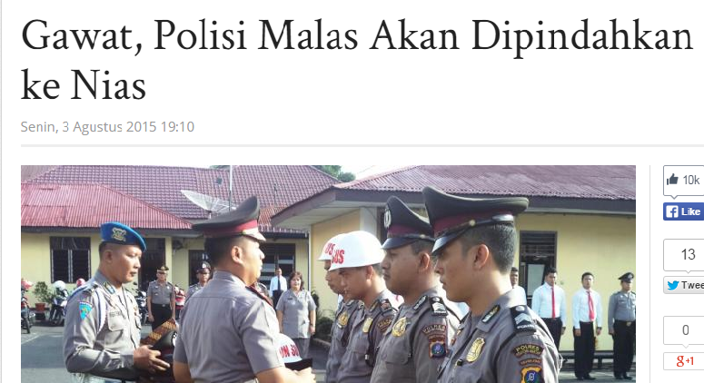 Cuplikan judul berita terkait pernyataan Kapolresta Medan AKBP Mardiaz Kusni Dwihananto di tribune-medan.com | NS