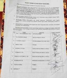 Pernyatan Sikap Bersama menanggapi kasus Kadali di Gunungsitoli | Pdt. Tuhoni Telaumbanua | FB