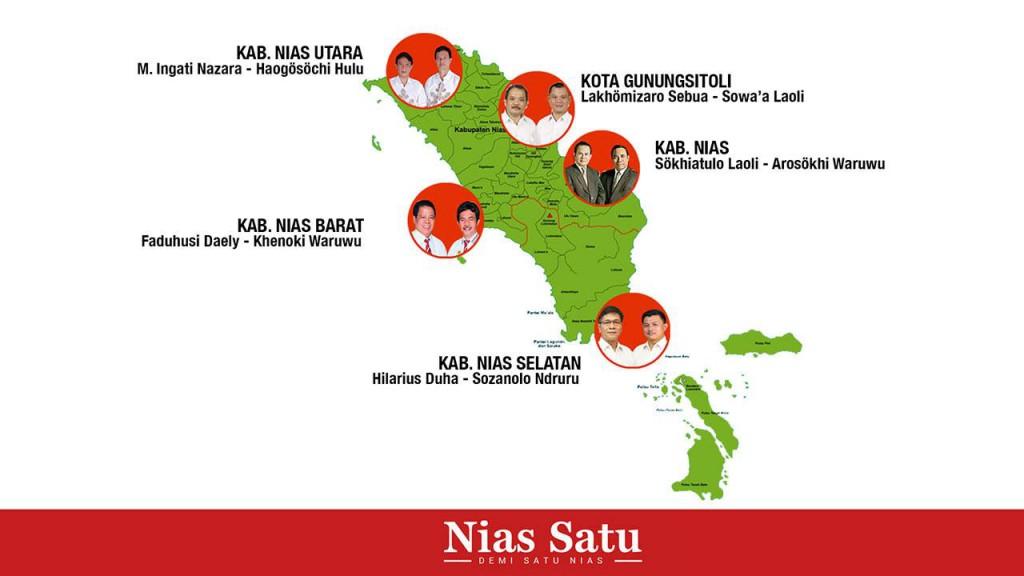 Para kepala daerah terpilih di Pulau Nias | Nias Satu