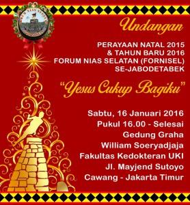Undangan Perayaan Natal dan Tahun Baru 2016 Fornisel | Fornisel