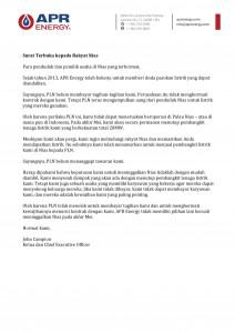 Isi Lengkap Surat Terbuka APR Energy kepada masyarakat Nias | NS