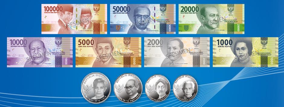 Tampilan 11 pecahan mata uang baru | bi.go.id.