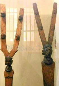 Koleksi Patung asal Pulau Nias di Museum Nasional. Foto aslinya lengkap hingga kaki | Etis Nehe
