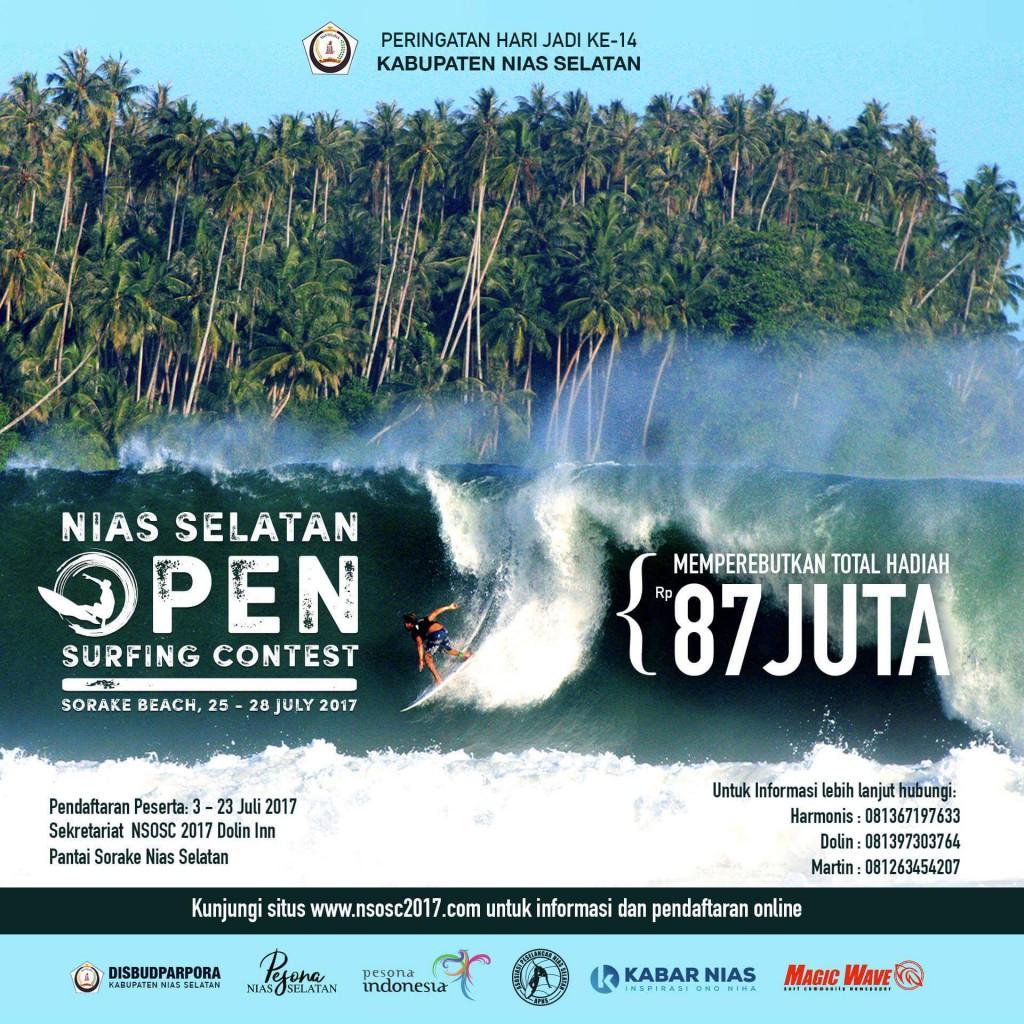 Flyer Nias Selatan Open Surfing Contest 2017 | Panitia